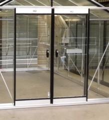 Dubbele deur tuinkas aluminium of kleur