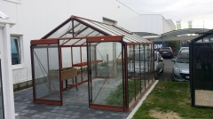 Rolstoelvriendelijke tuinkas R306 - 13,62m2 Afmeting:3.06m x 4.45m